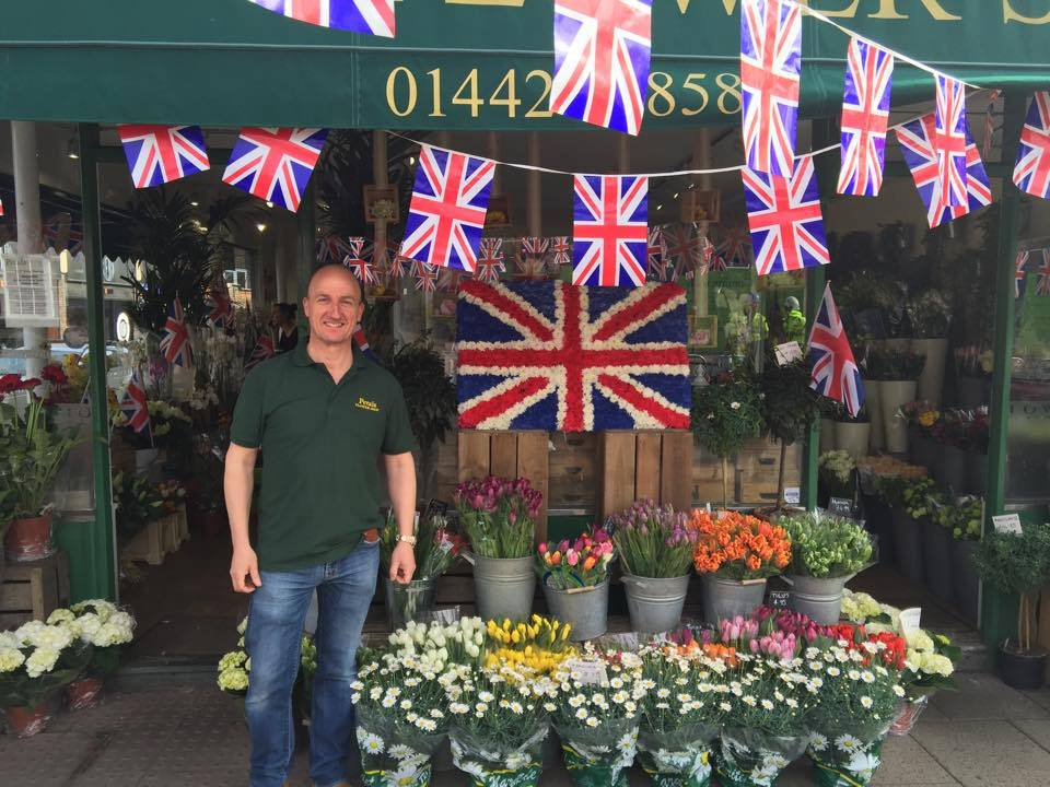 Welcoming the Queen to Berkhamsted, May 2016.